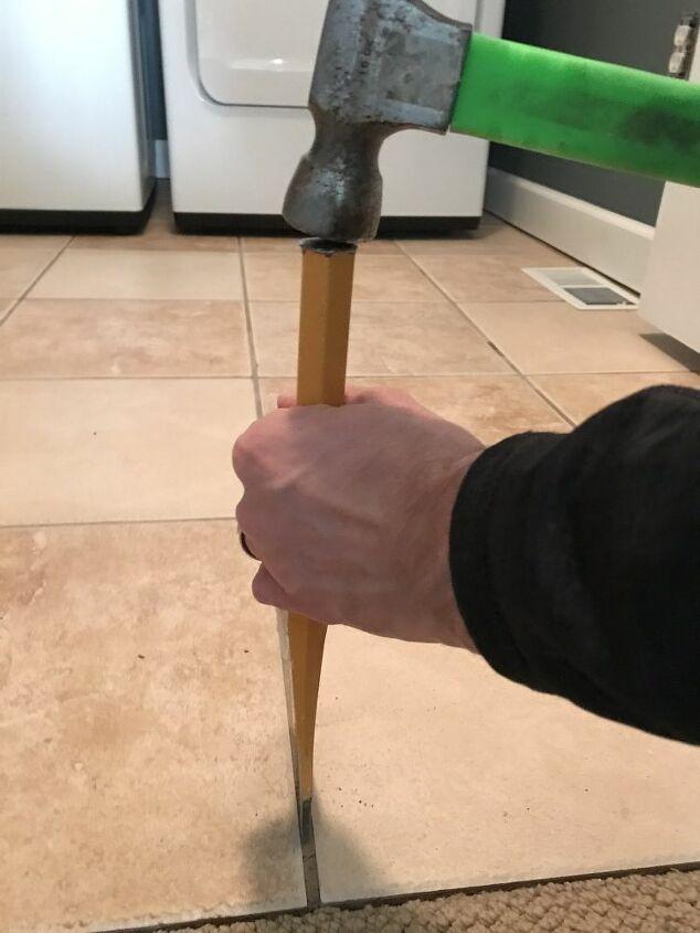 How To Remove Hideous Floor Tile For Good Diy Diy In