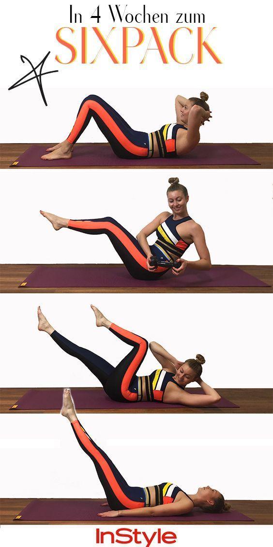 Sixpack-Challenge: In 4 Wochen zum Sixpack mit diesen Übungen #beautytips Sixpack: Diese 4 Fitnessüb...