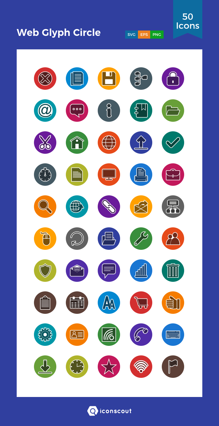 Download Web Glyph Circle Icon Pack Available In Svg Png Eps Ai Icon Fonts Icon Pack Icon Icon Font