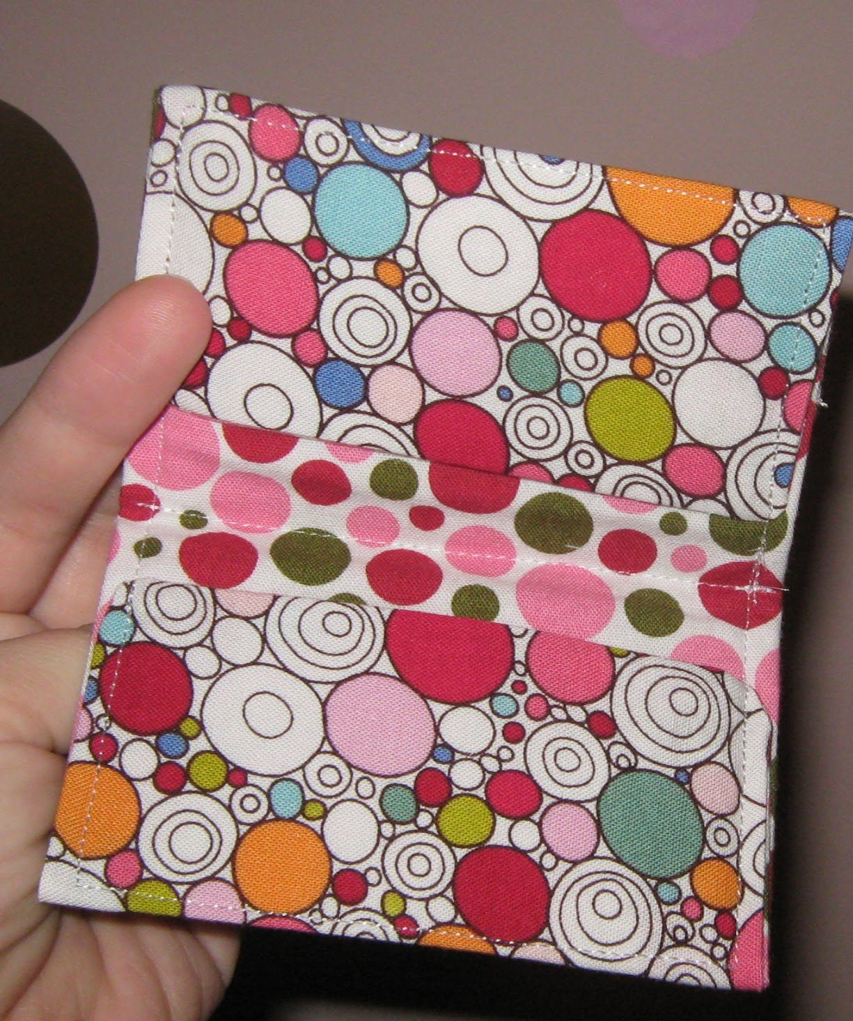 Today I have a tutorial for making a fabric business card holder ...