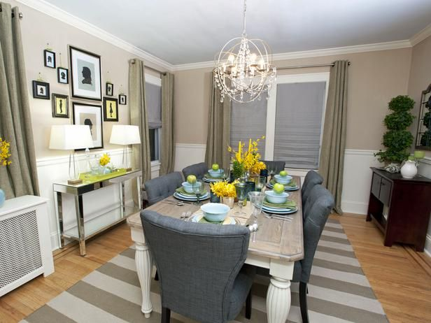 Best Sabrina S Best High To Low Makeovers Taupe Dining Room 400 x 300