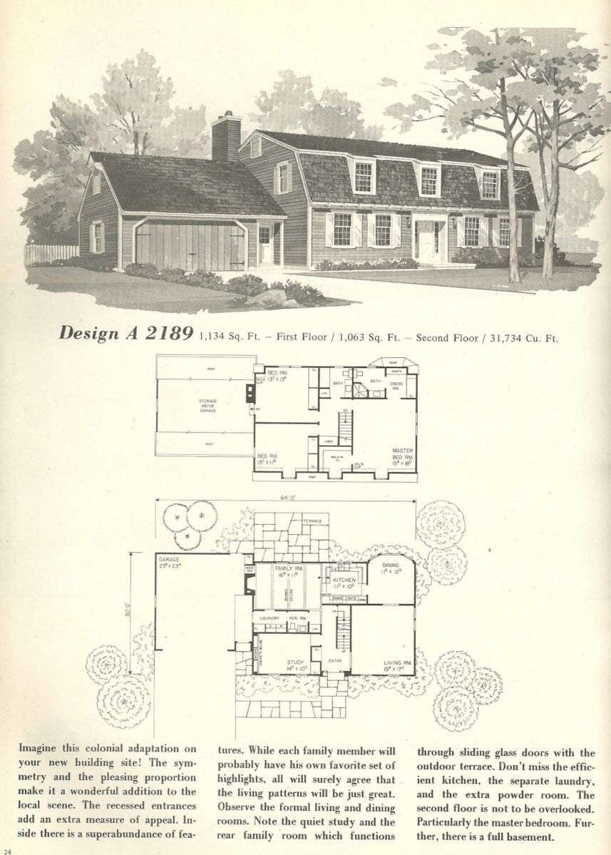 Vintage House Plans Vintage Homes Floor Plans 1970s Cottage Floor Plans Vintage House Plans Colonial House