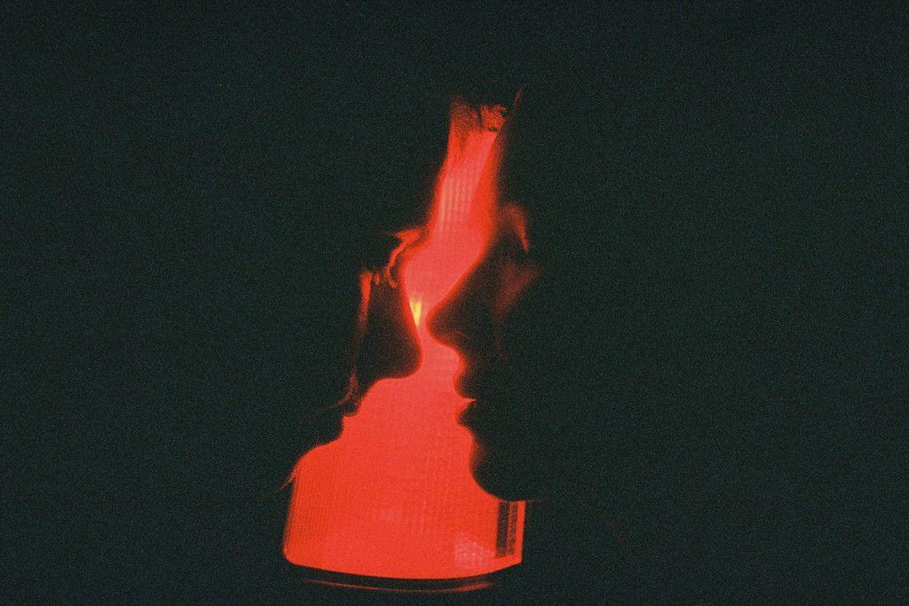 Scissors photography red aesthetic neo noir