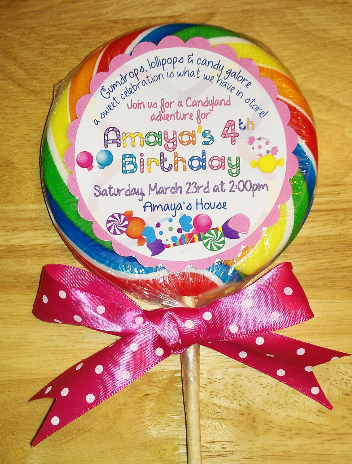 Amaya\'s Candyland birthday theme is meant to be! Look what I found ...