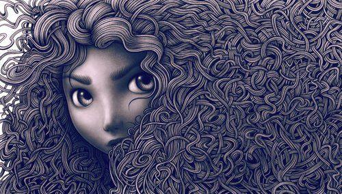 cabelo cacheado desenho - Pesquisa Google
