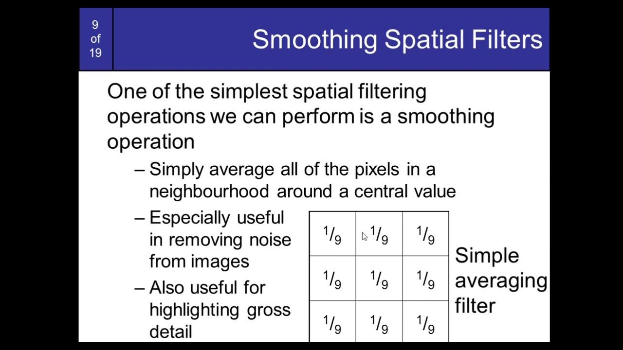 17  Matlab code For Smoothing filter in Digital image processing