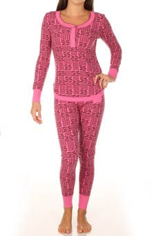 e58eae76bd Kensie Quite The Character Thermal Pajama Set 2913570 - Kensie Sleepwear