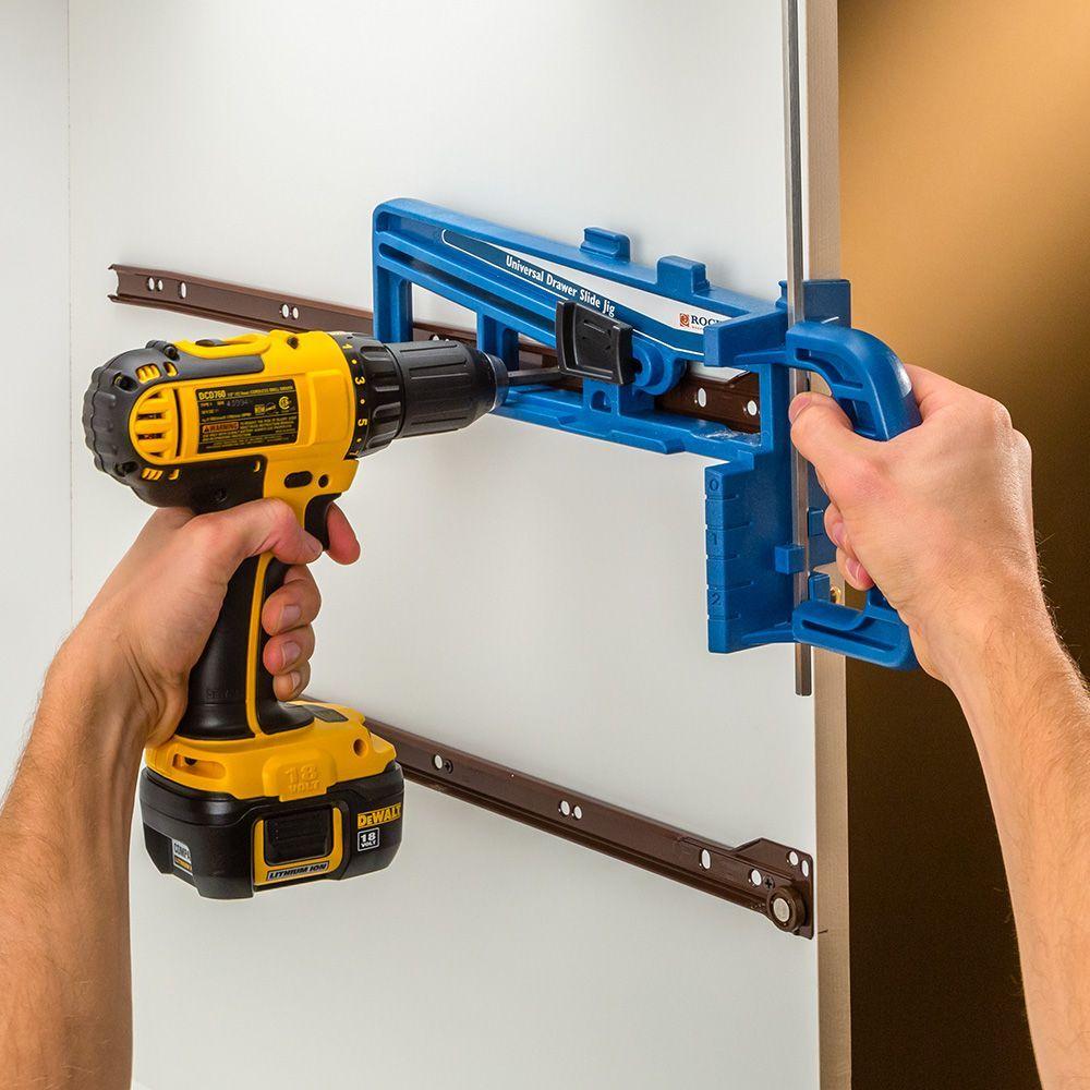 Rockler Universal Drawer Slide Jig Jet Woodworking Tools Woodworking Saws Woodworking Hardware