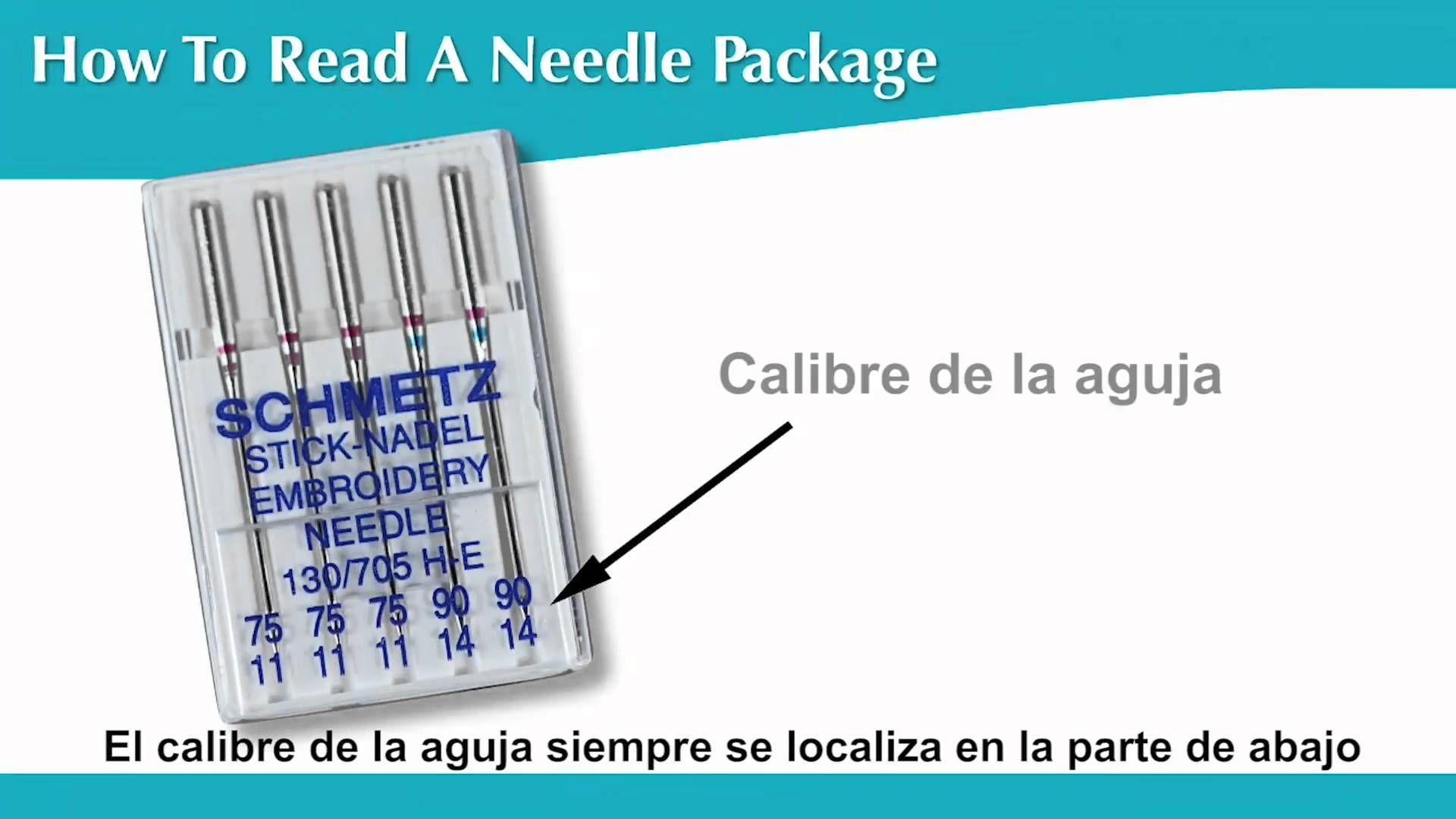 Cómo leer los empaques de las agujas | costura | Pinterest ...