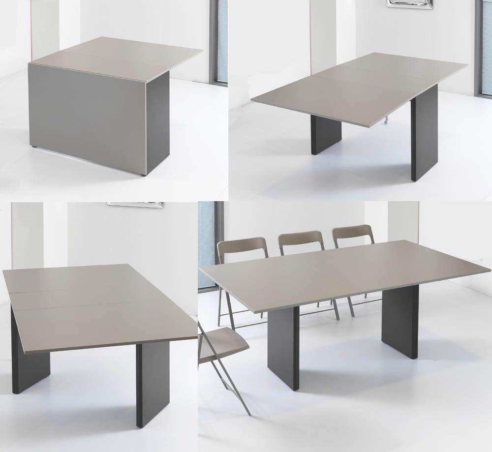 Table Console Avec 8 Chaises Integrees Console Extensible Console Idees Pour La Maison