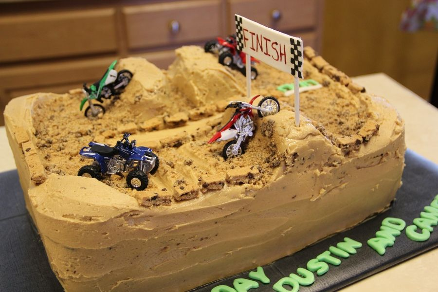 Dirt Bike Track Childrens Birthday Cakes Cakepins Com