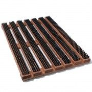 Wood and Bristle Doormats for the toilet