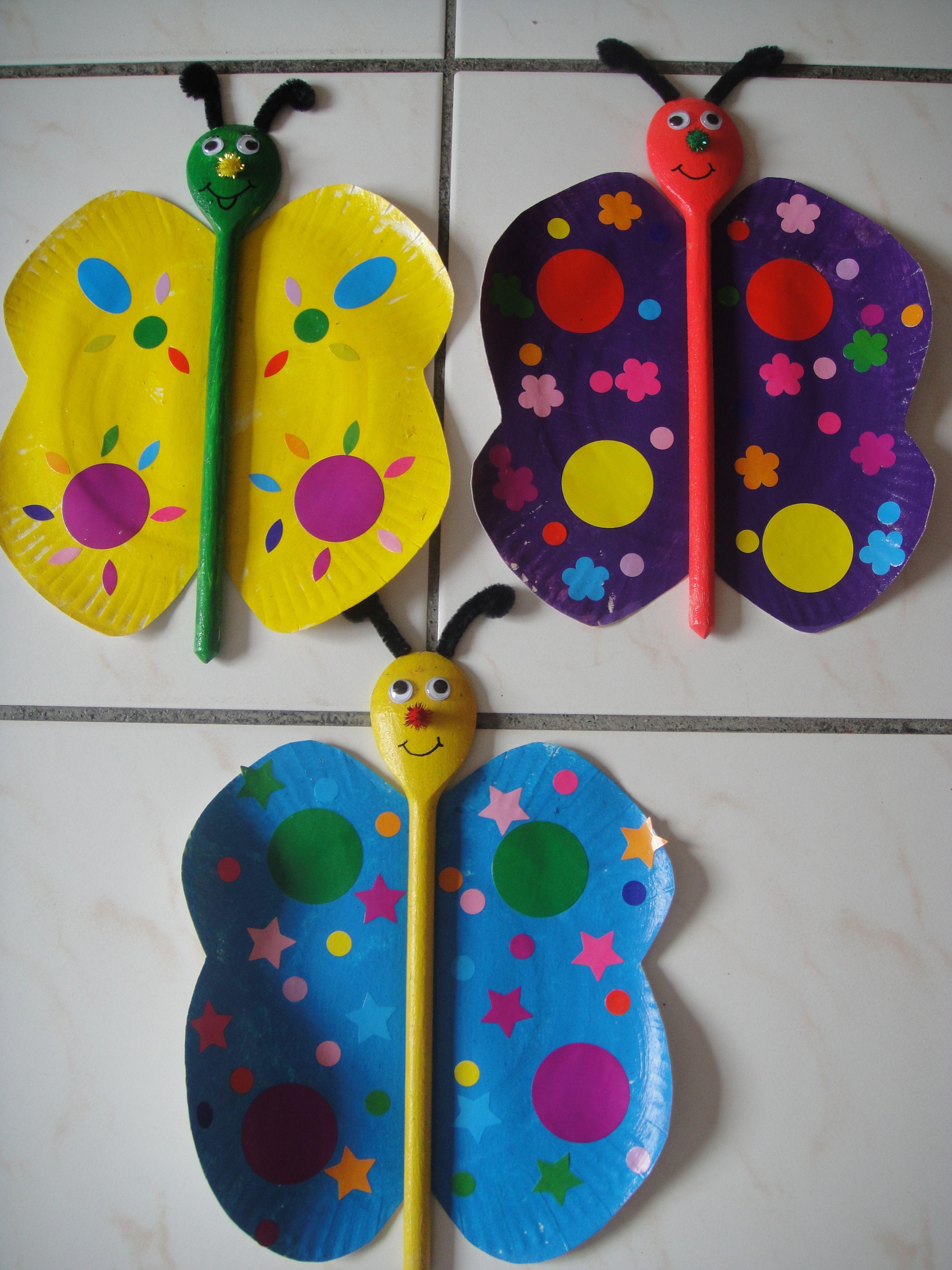 papillon cuill re en bois printemps pinterest cuill res papillon et en bois. Black Bedroom Furniture Sets. Home Design Ideas