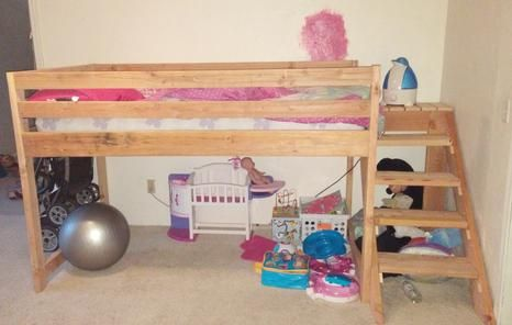 Daughter's Loft Bed, Built by me :)