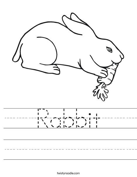Rabbit Worksheet Animal Worksheets Runaway Bunny Worksheets Rabbit worksheets for kindergarten