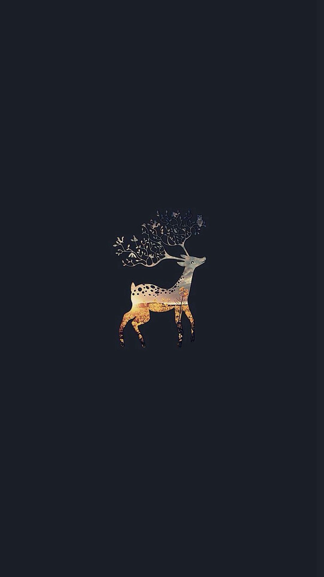Pin By Monica On Iphone And Ipad Wallpapers And Tips Cute Black Wallpaper Iphone 6 Wallpaper Deer Wallpaper
