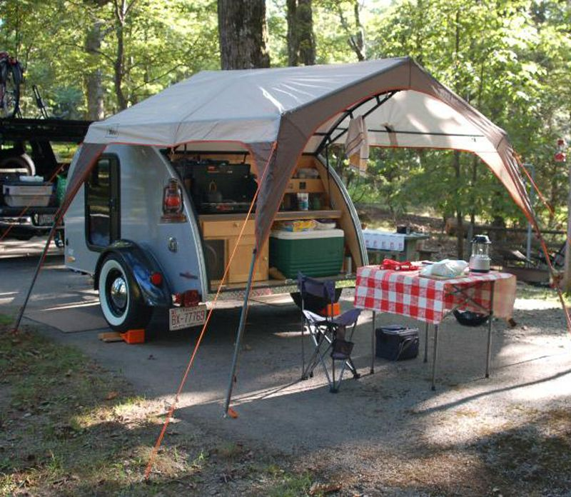 Camping Trailers: Image Detail For -Little Guy Shadow Series Teardrop Camper