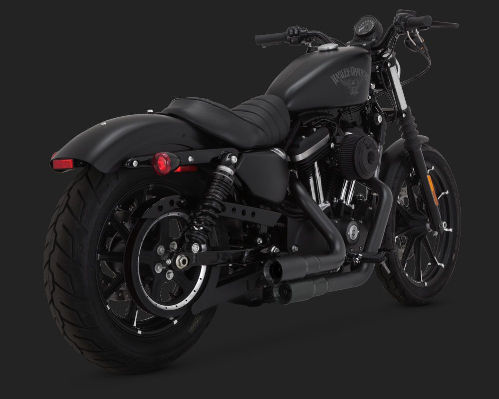 HARLEY SPORTSTER 48 BLACKED OUT EXHAUSTS 2004 TO 2018