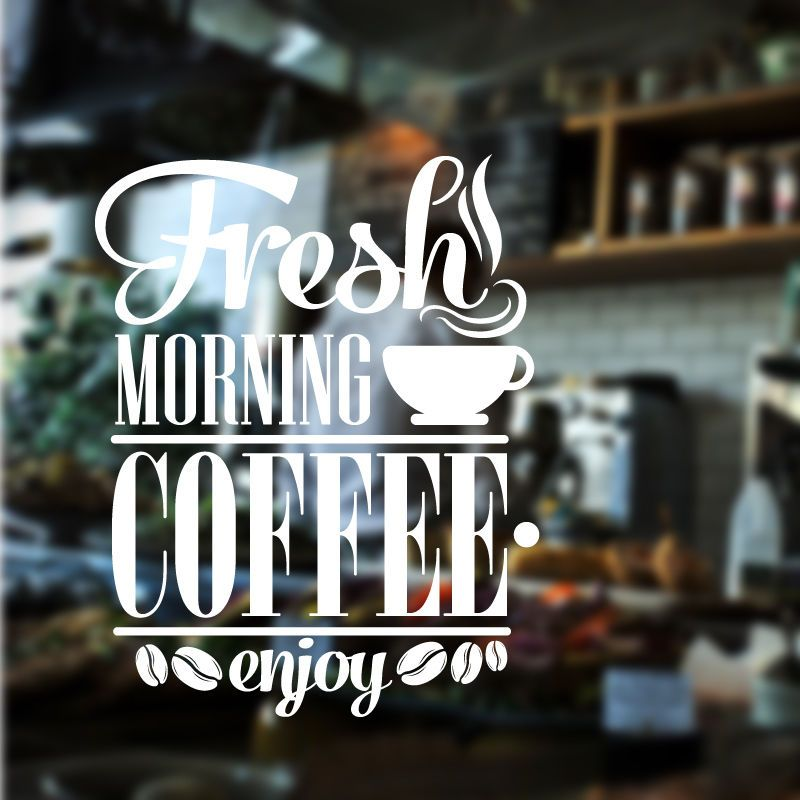 details about restaurant wall sticker coffee cafe decal art sticker