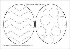 Easter Egg Colouring Sheets Sb1230 Sparklebox Templates