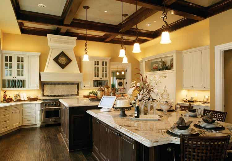 Marbled Center Island Breakfast Table Pic 2 Large Kitchen Design Kitchen Floor Plans Kitchen Plans