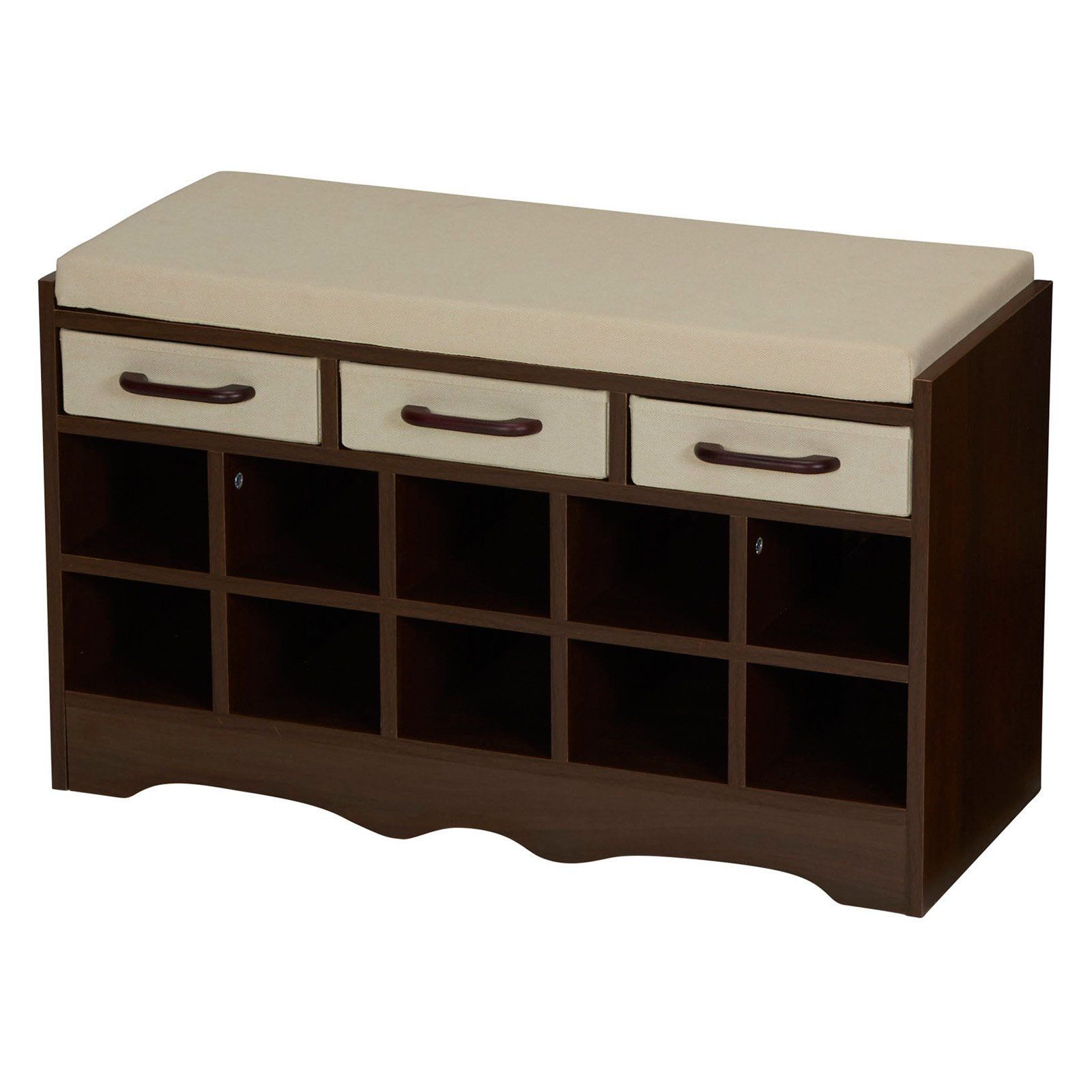 Household Essentials Entryway Storage Bench with Shoe Cubby | from ...