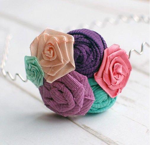 Čelenka s ručne vyrobenou textilnou aplikáciou by sive_pierko - SAShE.sk - Handmade Čelenky