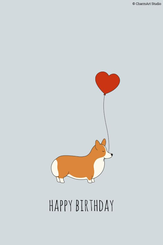 Pembroke welsh corgi alert and affectionate pups pinterest lovely birthday corgi by charmart studio m4hsunfo