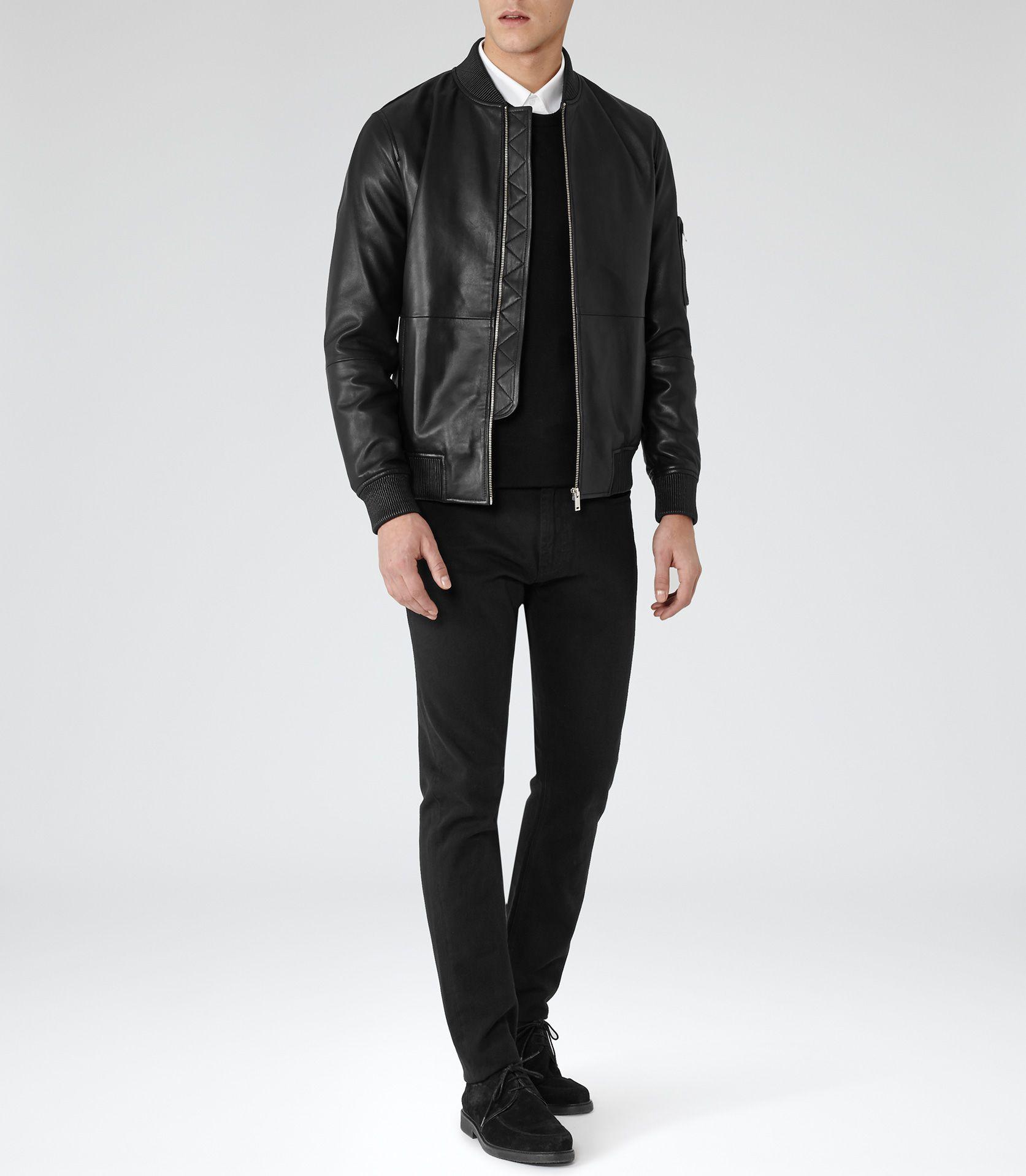 Bardot Black Leather Bomber Jacket Black Leather Bomber Jacket Mens Clothing Styles Leather Bomber Jacket [ 1918 x 1673 Pixel ]