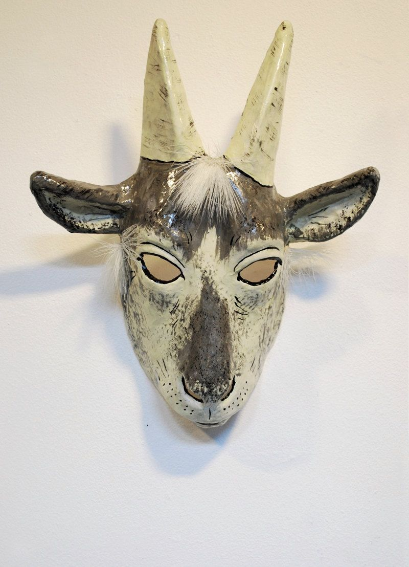 Goat mask | Kingston's First Birthday | Pinterest | Goat Mask and ...