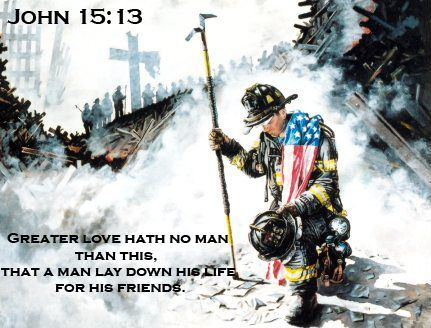 Greater Love Hath No Man Than This.. John 15:13 Patch