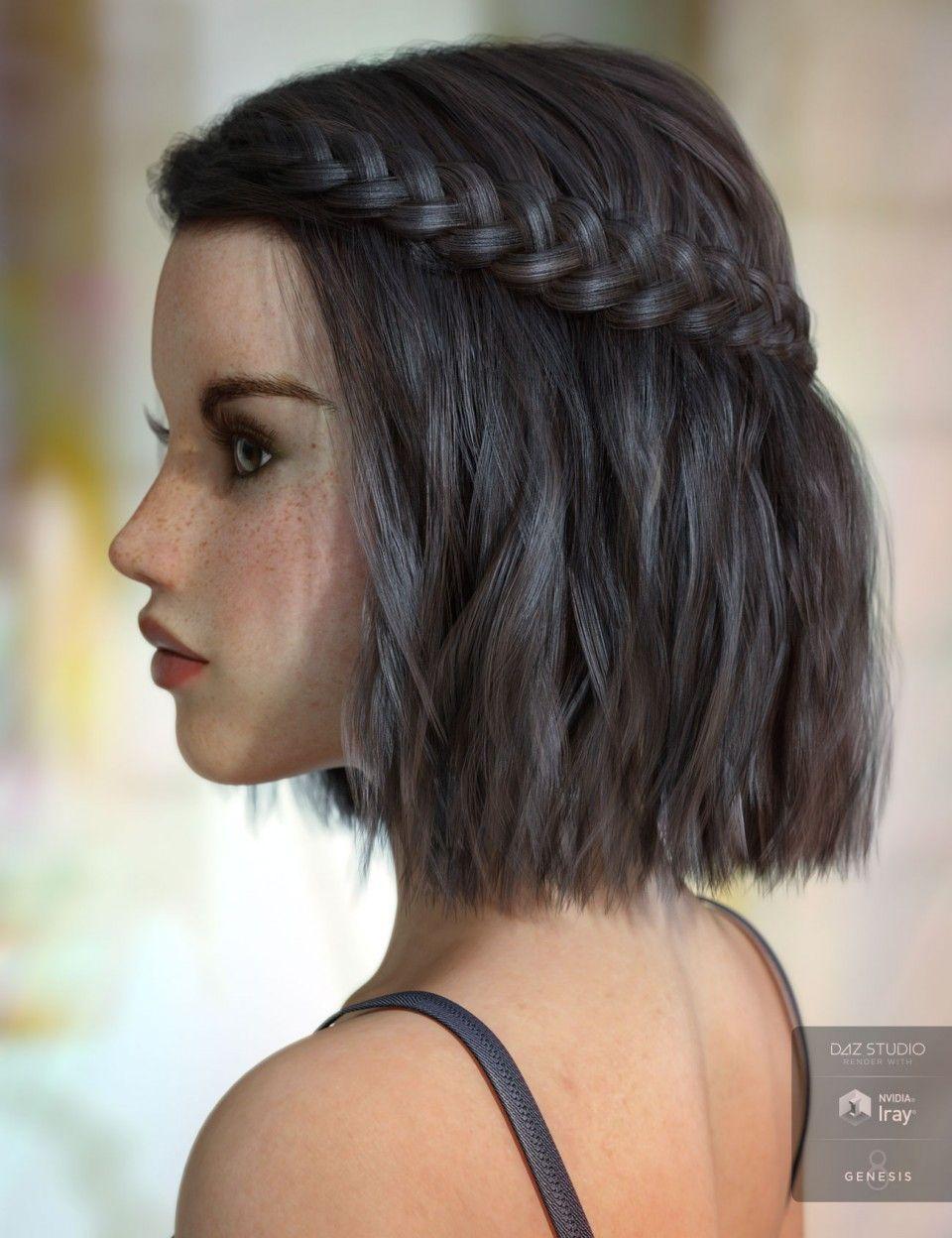 Easybraidedhairstyles In 2020 Prom Hairstyles For Short Hair Thick Hair Styles Short Hairstyles For Thick Hair