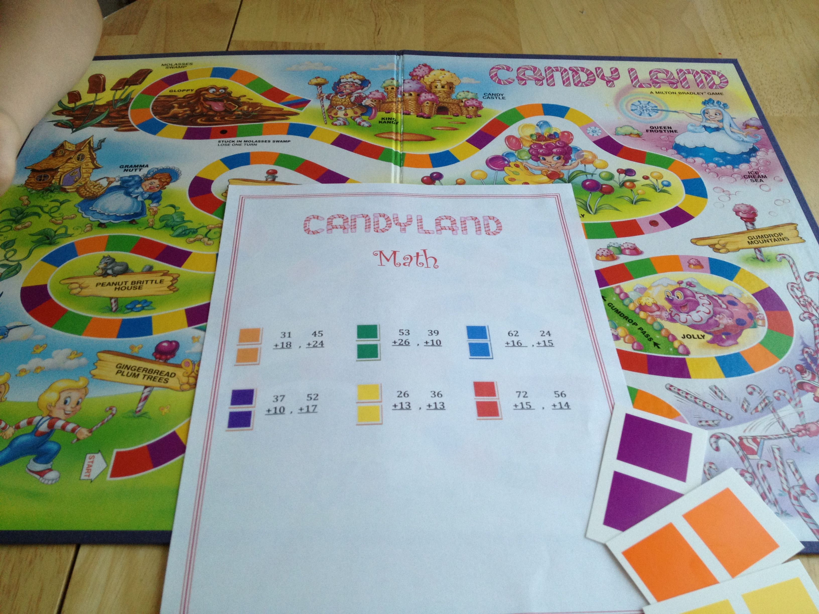 Candyland Math I Created This And Tried It Today Worked
