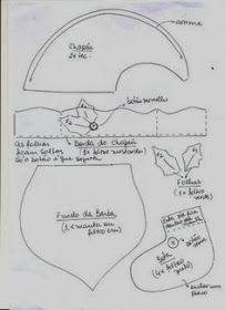 molde 1/2  santa vuela con corona agarrada con sus manos   - FELTRO MOLDES ARTESANATO EM GERAL: Novembro 2013