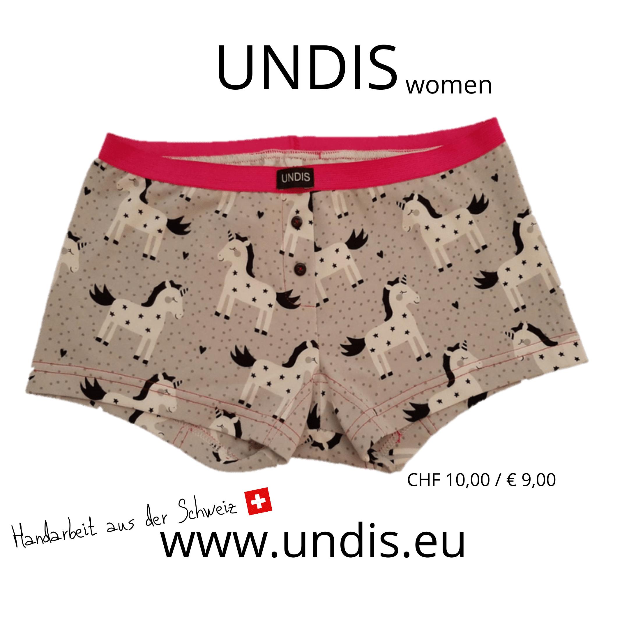 UNDIS bunte Unterwäsche im Partnerlook für Groß und Klein