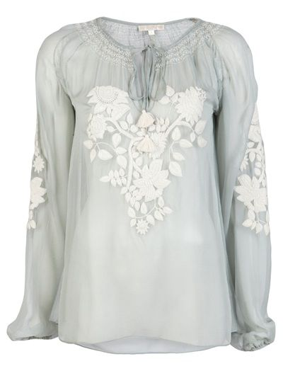 65b606485f06ea GOLD HAWK Embroidered Floral Peasant Blouse   embroidery in 2019 ...
