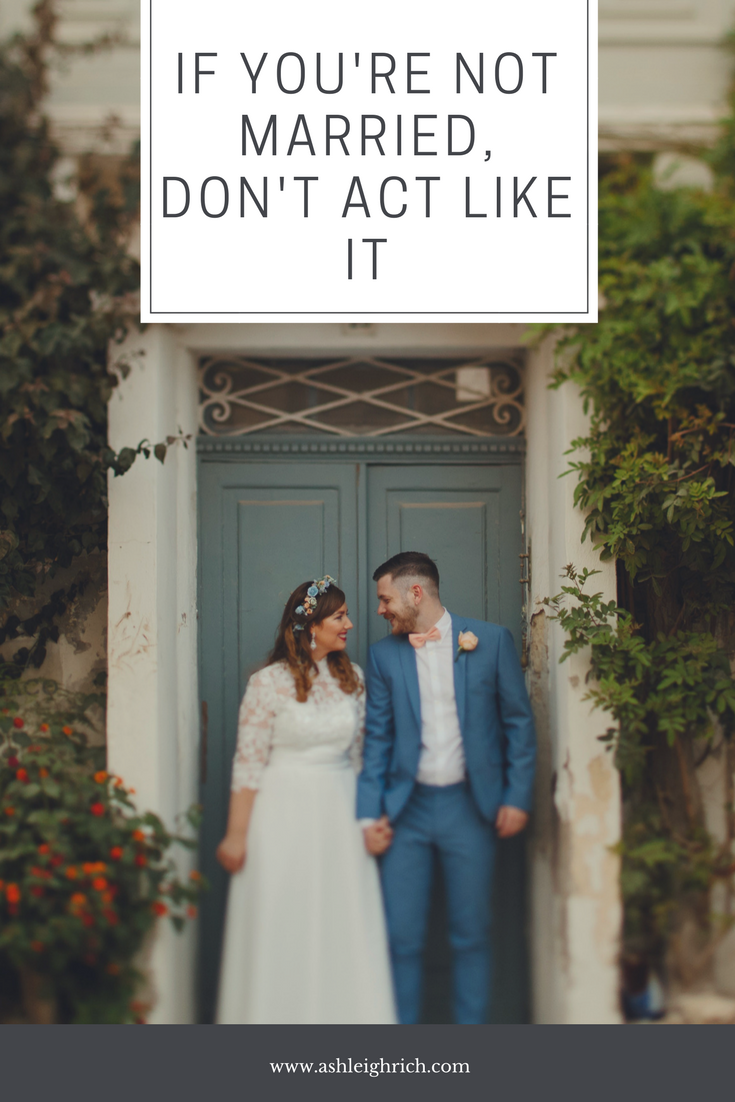 If Youre Not Married, Dont Act Like It  Living Together -5309