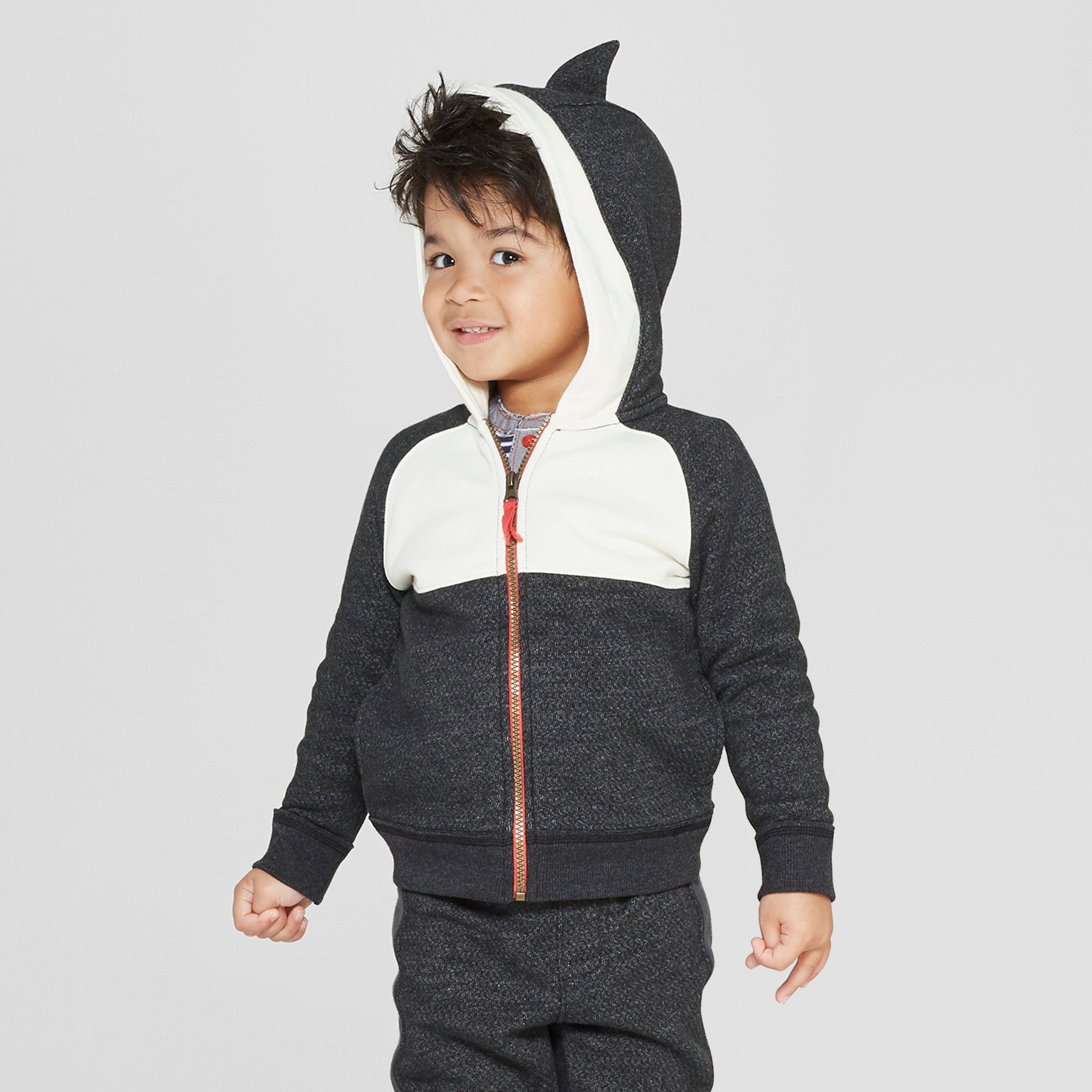849ff4a57e09 Genuine Kids from OshKosh Toddler Boys  Orca Dress Up Hoodie - Black ...