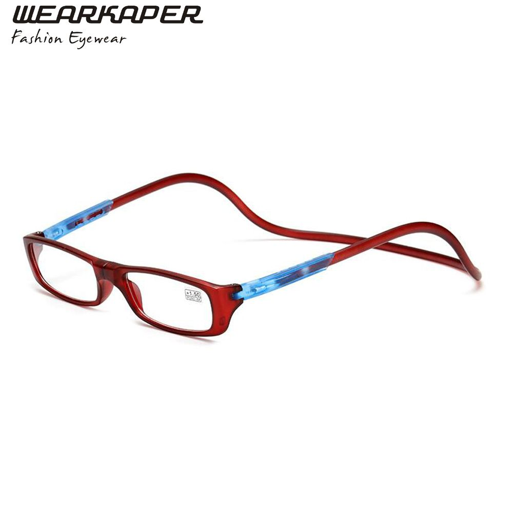348f53b210ba WEARKAPER Folding Adjustable Reading Glasses Men Women Magnets Front  Connect Eyeglasses Oculos de grau 1.0 1.5 2.0 2.5 3.0 3.5 4