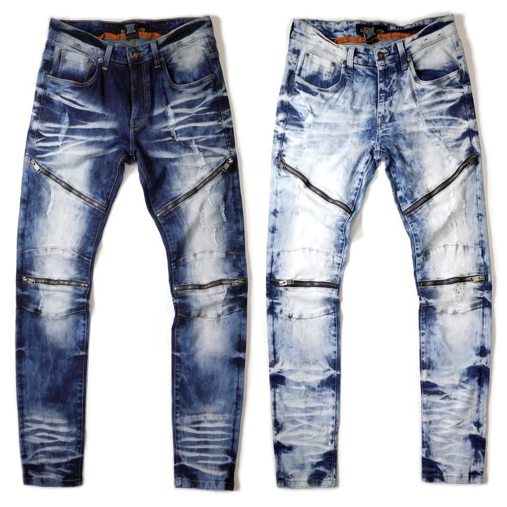 Pantaloni Jeans Uomo Jeans Chino Denim Slim Fit Design used L BLUE UOMO