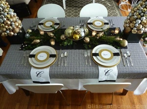 15 modern christmas table setting ideas staff event - Modern christmas table settings ideas ...
