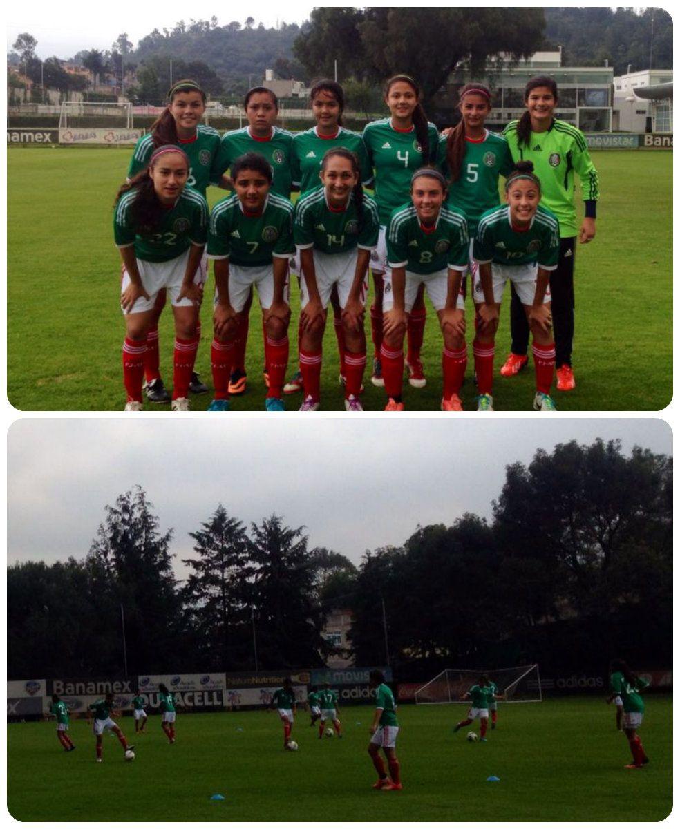 La Selección Femenil durante el partido de preparación ante Costa Rica en el CAR