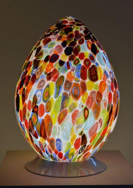 Lampes De Table En Verre Souffle De Murano Creation Artisanale De Luminaires De Luxe Appliques Lustres Glass Bottles Art Bottle Art Murano Lamp
