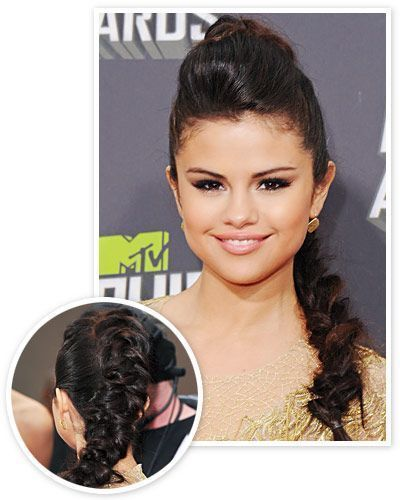 loose Braids selena gomez The Sexiest Summer Hairstyles begin with volume on top section the front of hairline and sprinkle on Unites Expanda Dust to add body Tease with...