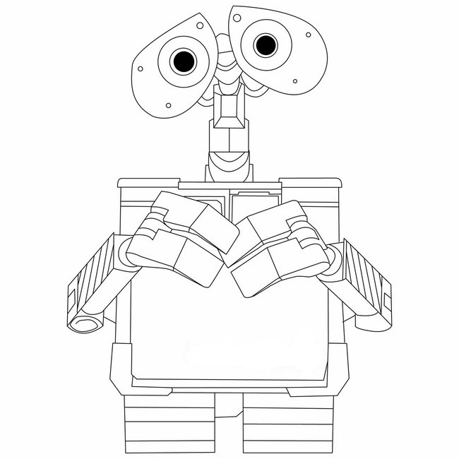 Walle Coloring Pages