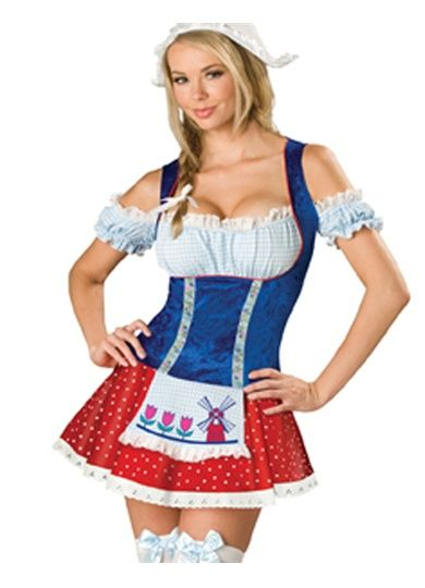 Sexy Womens Dutch Girl Maid Halloween Costume Outfit Pinterest Com