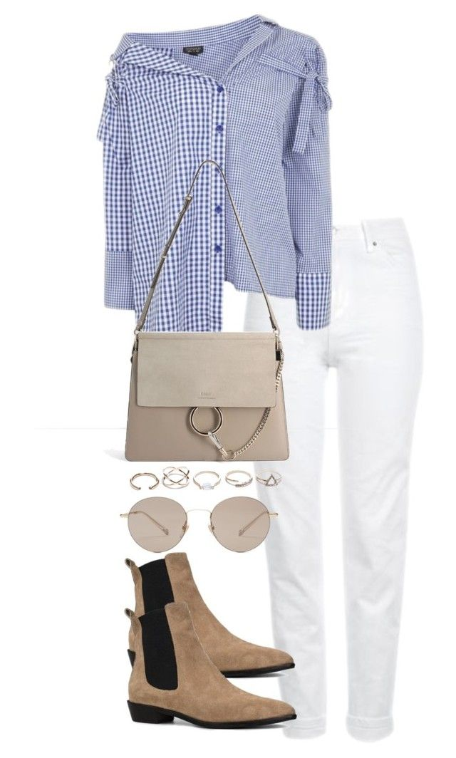 """""""Untitled #3836"""" by theeuropeancloset on Polyvore featuring Topshop, Chloé, GUESS and Gucci"""