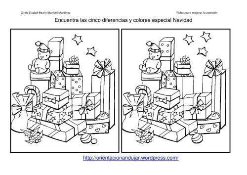 Encuentra las 5 diferencias  Navidad  Pinterest  Diferencias