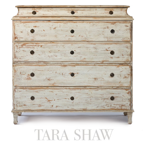 Delightful Tara Shaw Swedish Chest  Keywords:Gustavian, Gustavian Furniture,  Distressed Furniture, Country