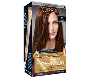 Superior Preference 55 Medium Amber Copper Brown Golden Brown Hair Dye Loreal Hair Color